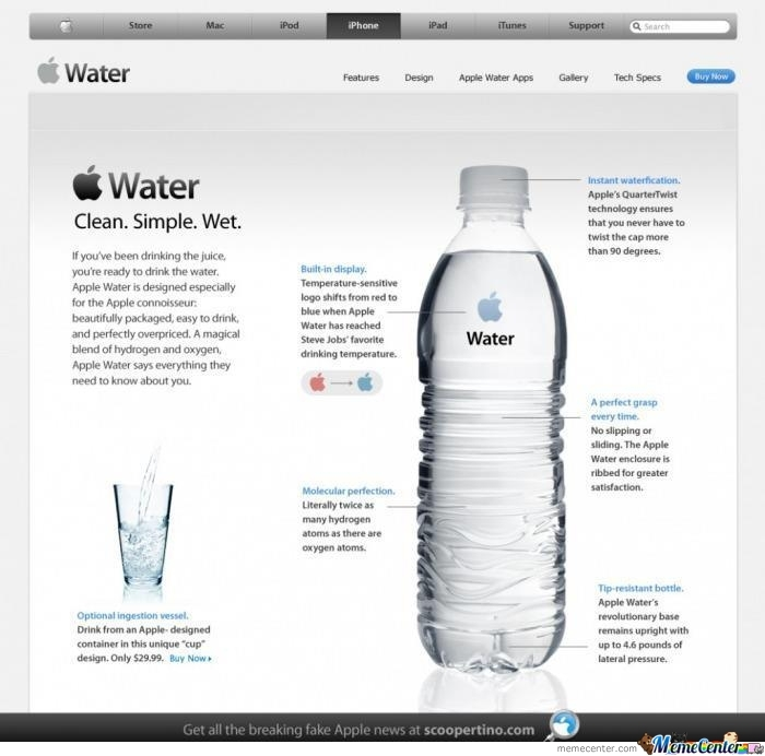 If Apple Invented Water
