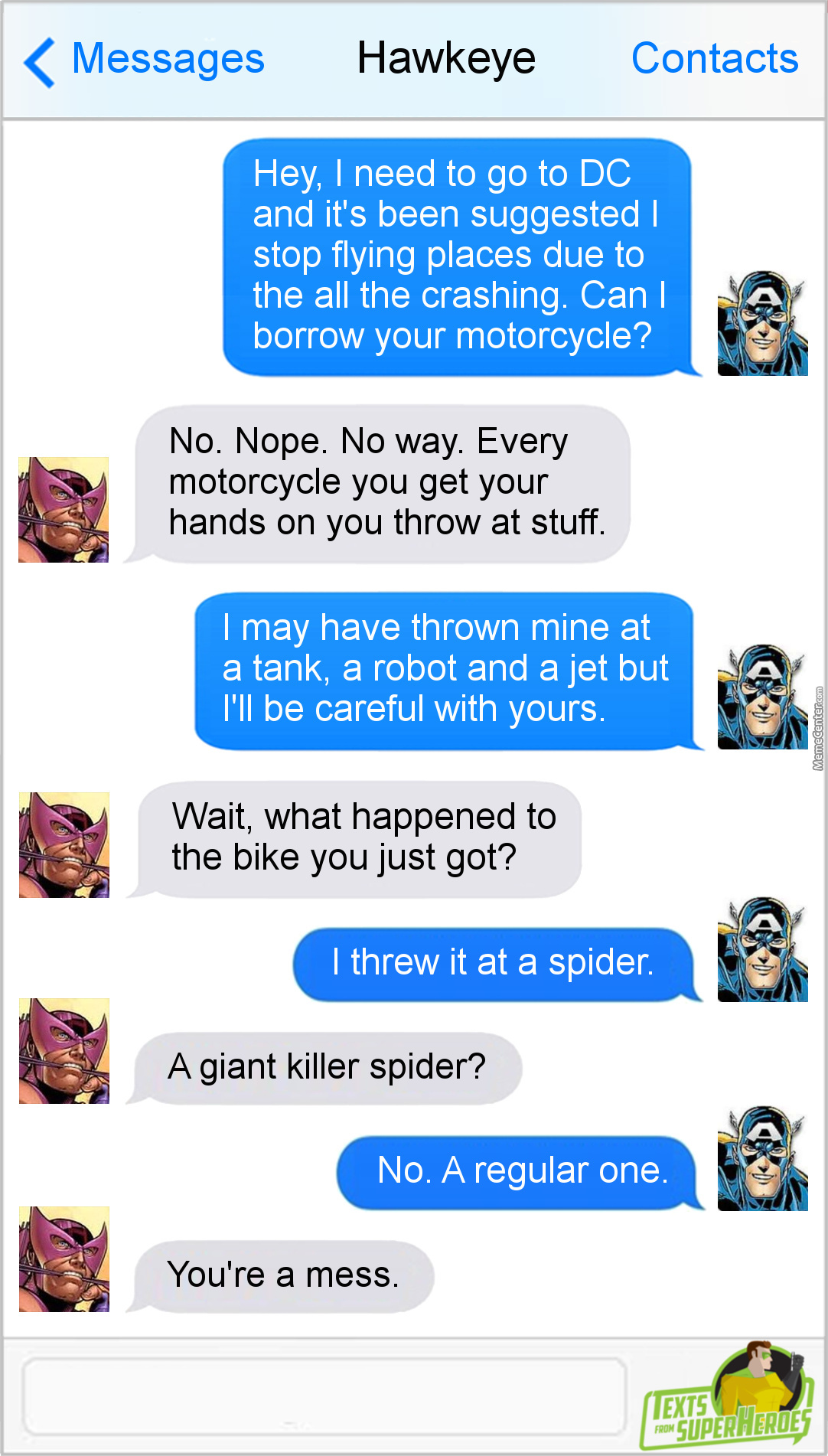 If Cap Throws Motorcycles At Spiders, It's A Good Thing He Doesn't Live In Australia