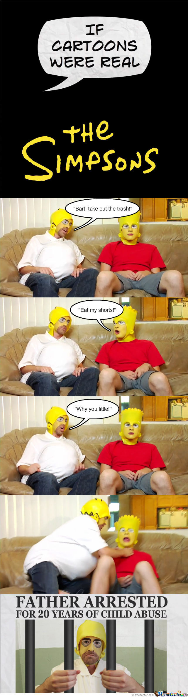 If Cartoons Were Real: The Simpsons.