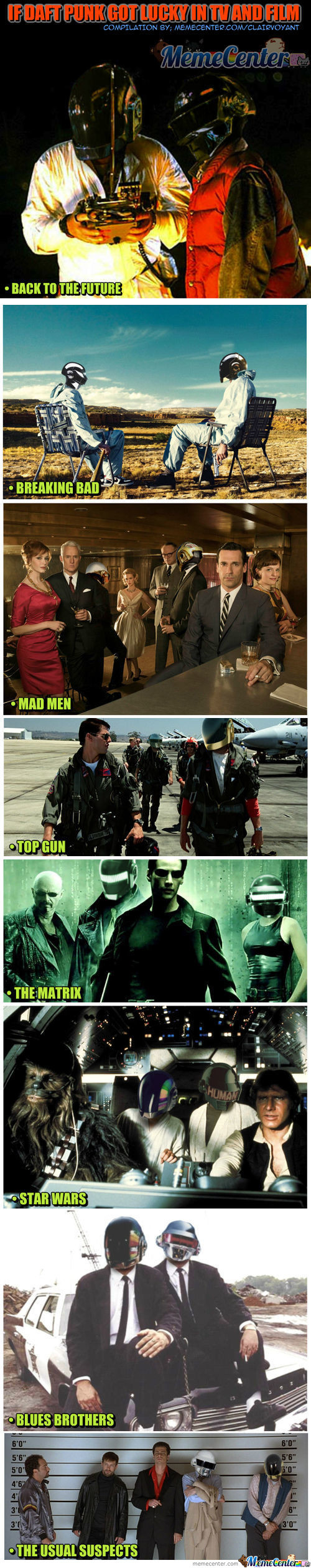 If Daft Punk Got Lucky In Tv And Film
