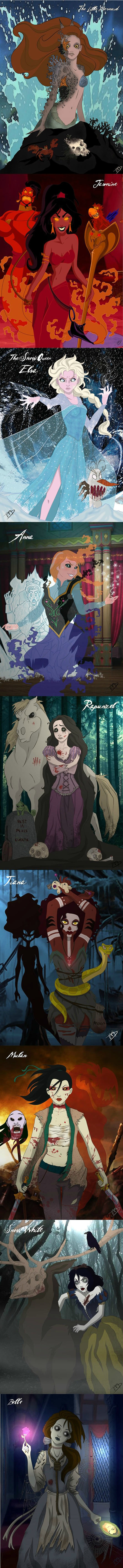 If Disney Princesses Were Darker And More Twisted