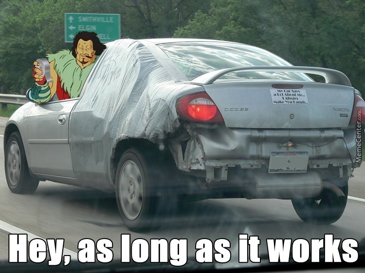 Using Duct Tape Under Car