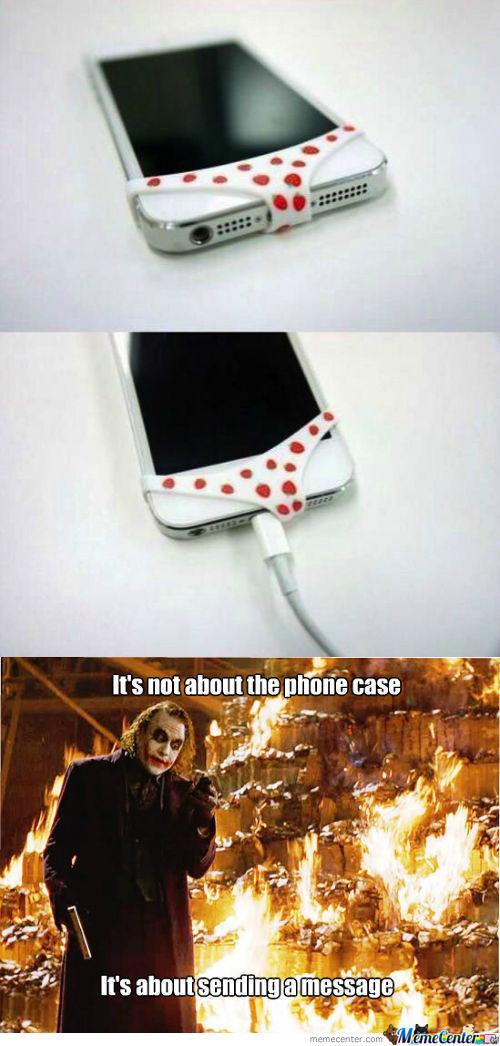 It's not about the phone case