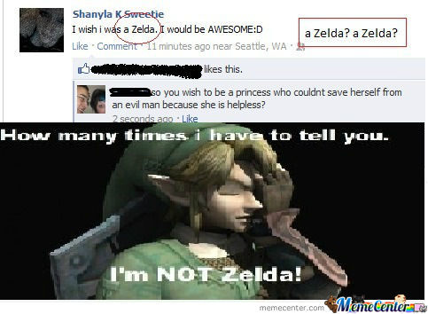 Funny Link Zelda Memes : I m not zelda i m link by le mao meme center