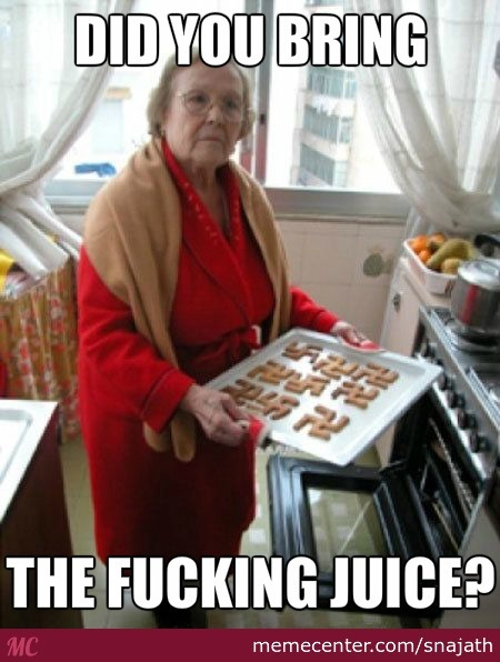 Im Pretty Sure She Said Juice, Not Jews.. .right Granma?!