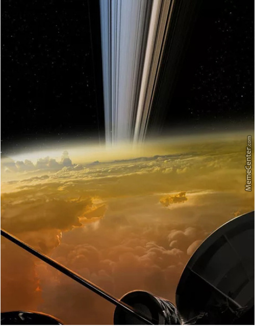 Image Of Saturn's Rings Taken From The Cassini Spacecraft