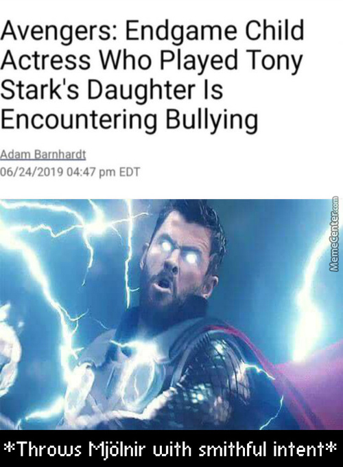 Imagine Getting To Be In A Fucking Marvel Movie Then Getting Bullied By Your Classmates For It