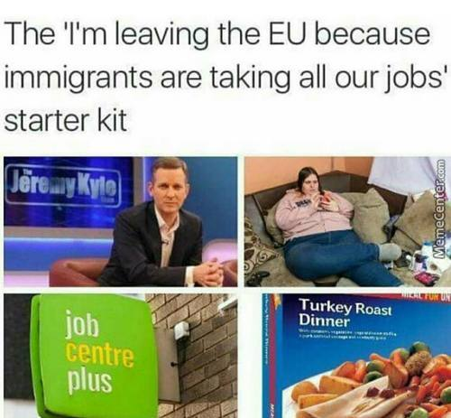 Immigrants Are Taking All Our Jobs While At The Same Time They're Being Lazy And Living On Benefits