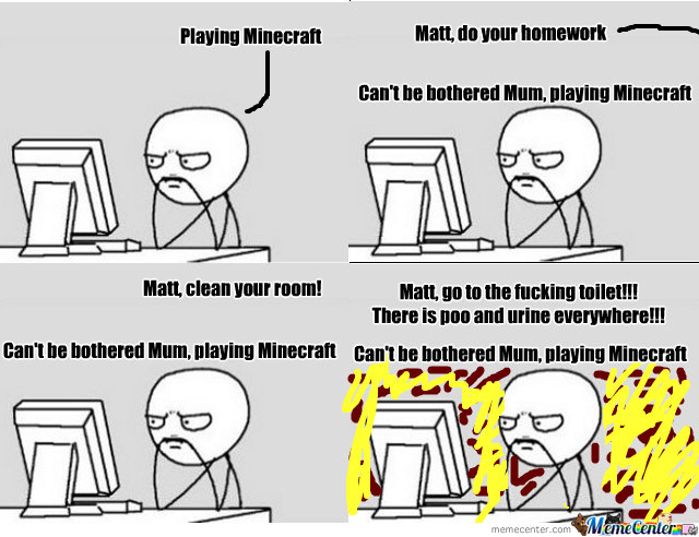 Impossible To Be Separated From Minecraft!!!
