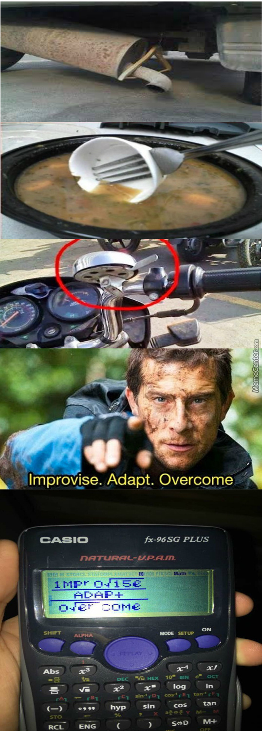 9b3de28fa6f Improvise Adapt Overcome Memes. Best Collection of Funny Improvise ...