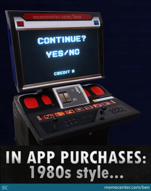 in app purchases in 80s by ben meme center