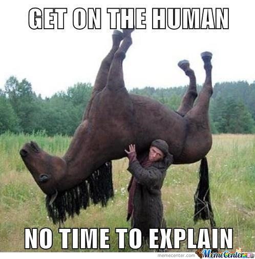 In Soviet Russia, Horse Rides You