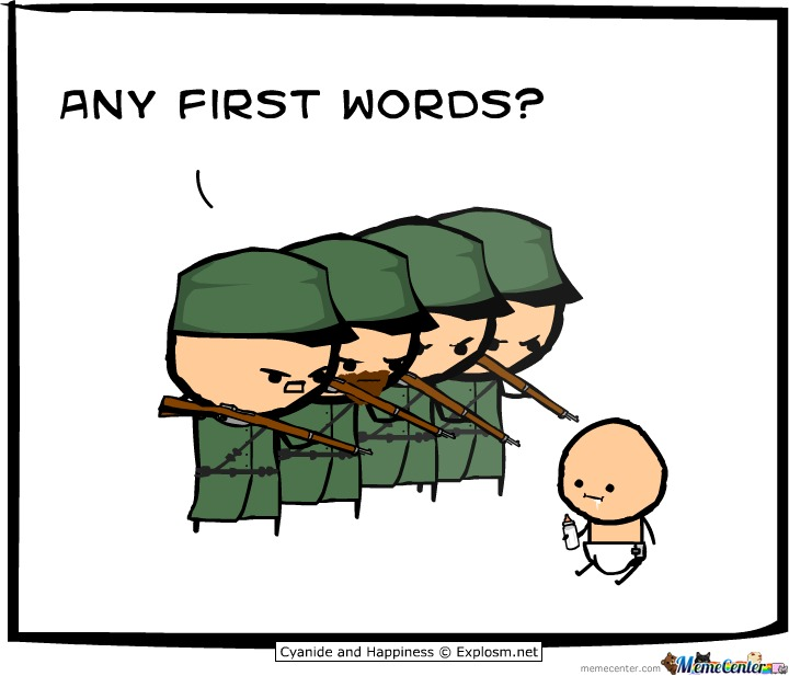 Any First Words?