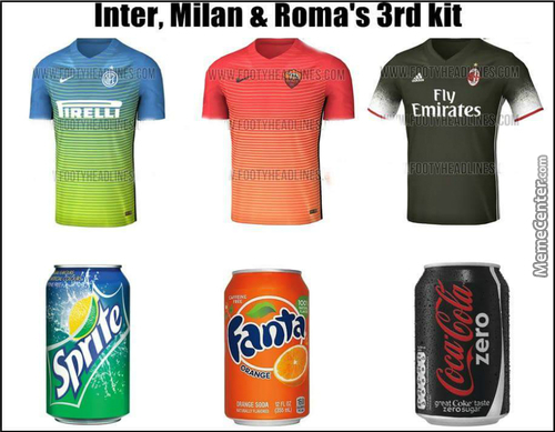Inter Milan,as Roma & Ac Milan Third Kit For 2016-17