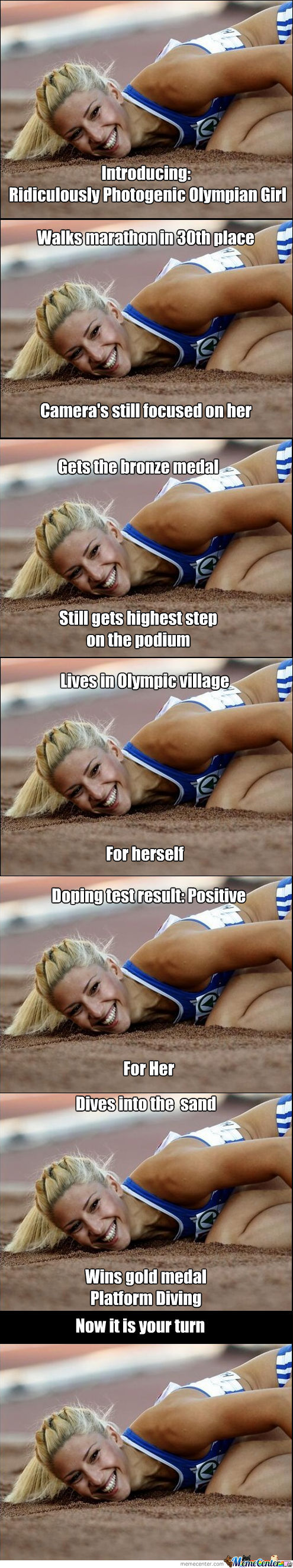 Introducing: Ridiculously Photogenic Olympian Girl