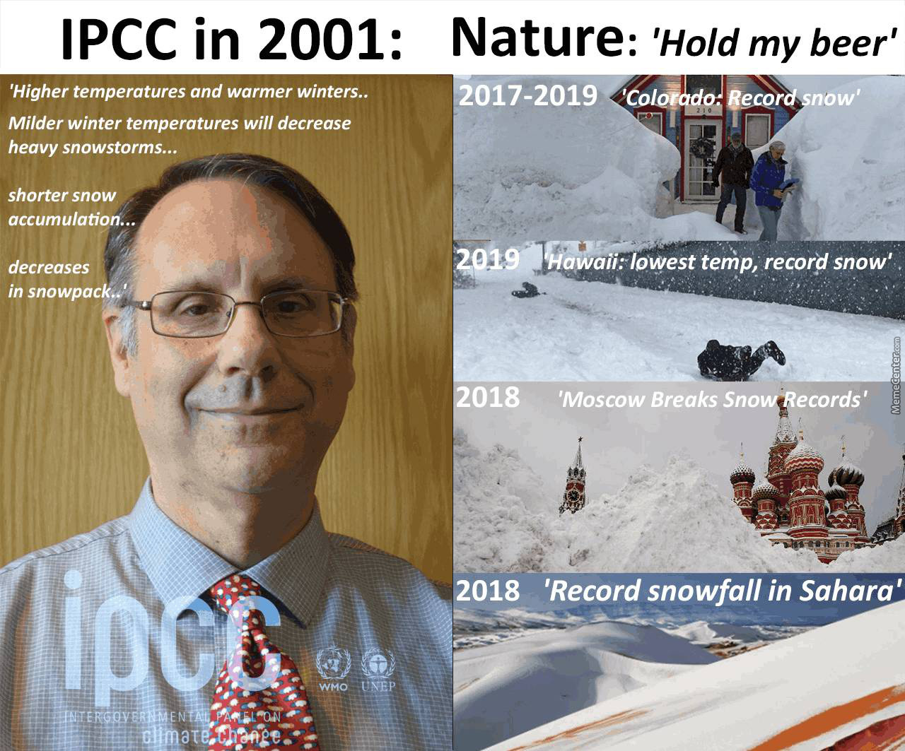 Ipcc: No More Snow - Nature: Hold My Beer