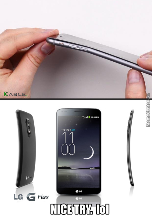 Iphone 6+  Vs  Lg G Flex