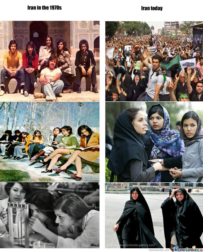 iran before and after the revo
