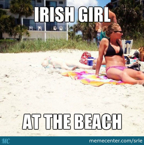 Irish Girl At The Beach