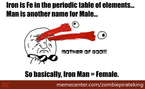 Iron Man = Female?