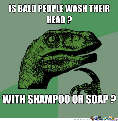 Is Bald People Wash Their Head ?