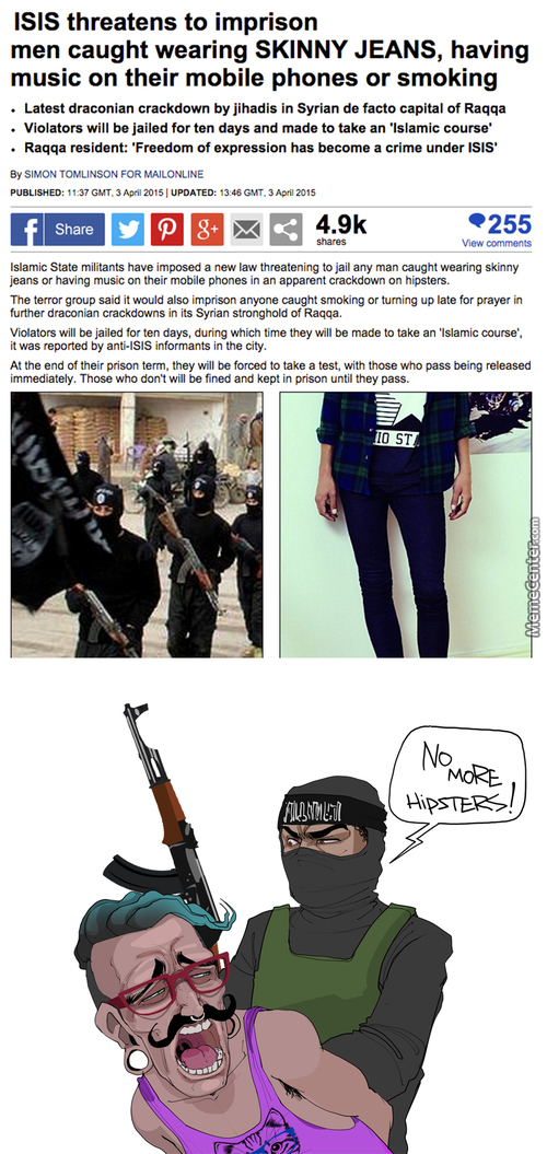 Isis Declares War On Hipsters