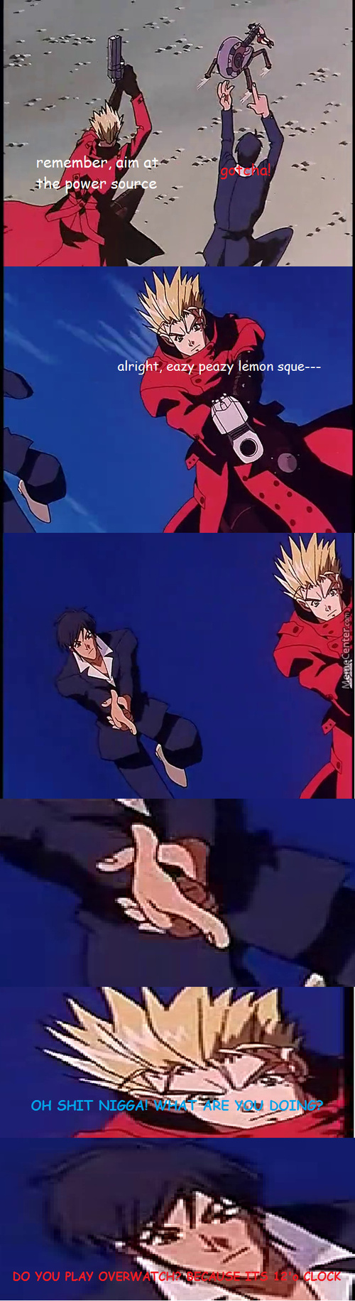 It's Actually His Dick That Does The Shooting For Him (Trigun)