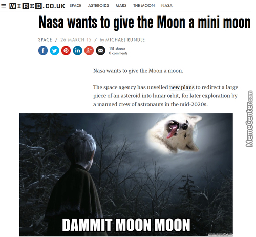 It's All Part Of A Secret Plan To Destroy The Moon Nazis Once And For All