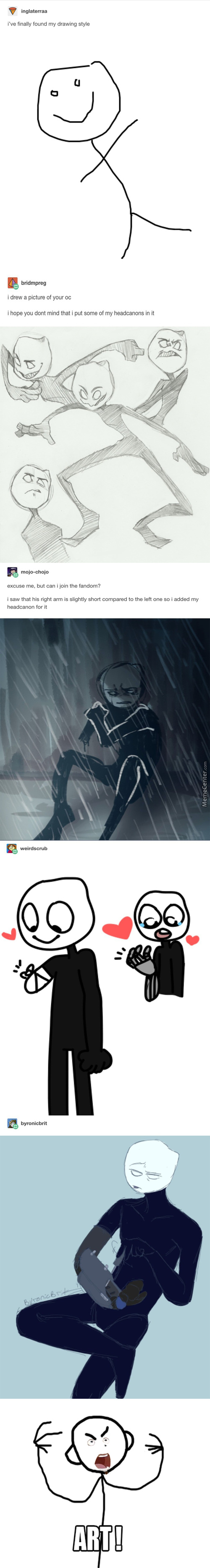 It's Awesome How They Made 1 Lazy Drawing Into A Big Comic
