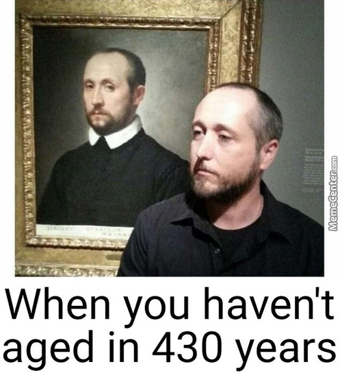 It's Interesting How This Man Is The Same Age As Of The Painting