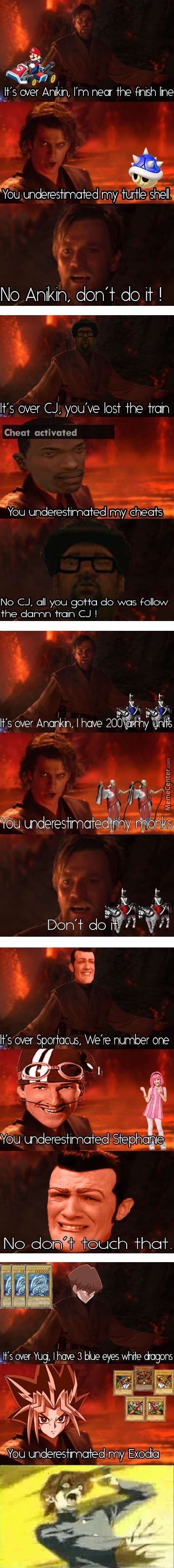 It's Over Anakin, I Made A Title