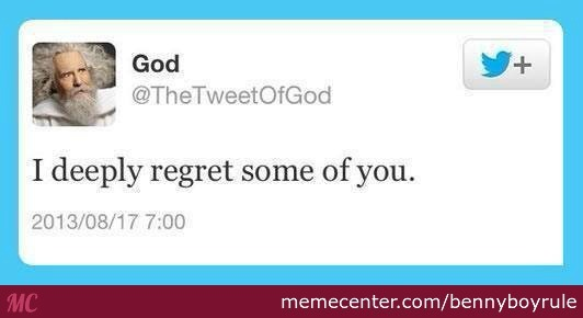 It's The First Time I Agree With God