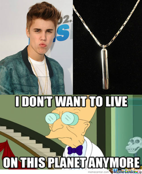 It Is A Neckalace With Justin Biebers Dna