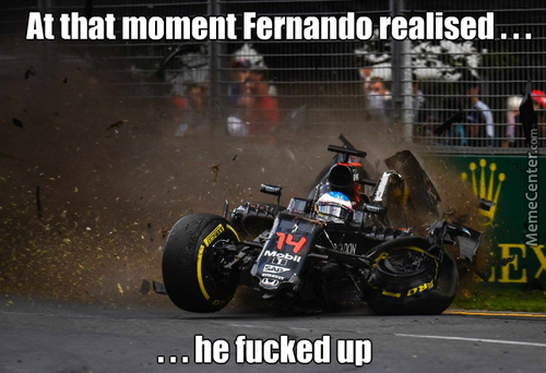 It Was Heck Of A Crash Today At Australian Gp (Guy In A Picture Is Fernando Alonso)