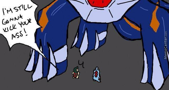 it was really difficult the giant pokemon is primal dialga by