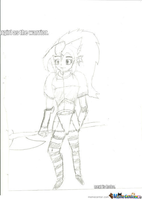 It Was This Or A Berserker, And I Won't Draw Her In A Fur Bikini