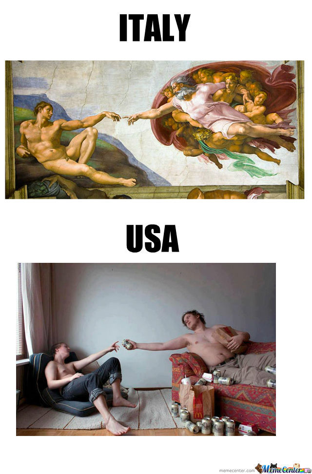 Italy Vs Usa By Dondono Meme Center