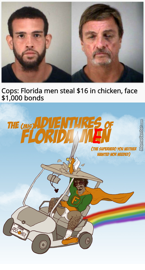 Its A Burd! No! No! Its A Plane! No! Its A Banana Hammock Wearing Superhero! Florida Man!