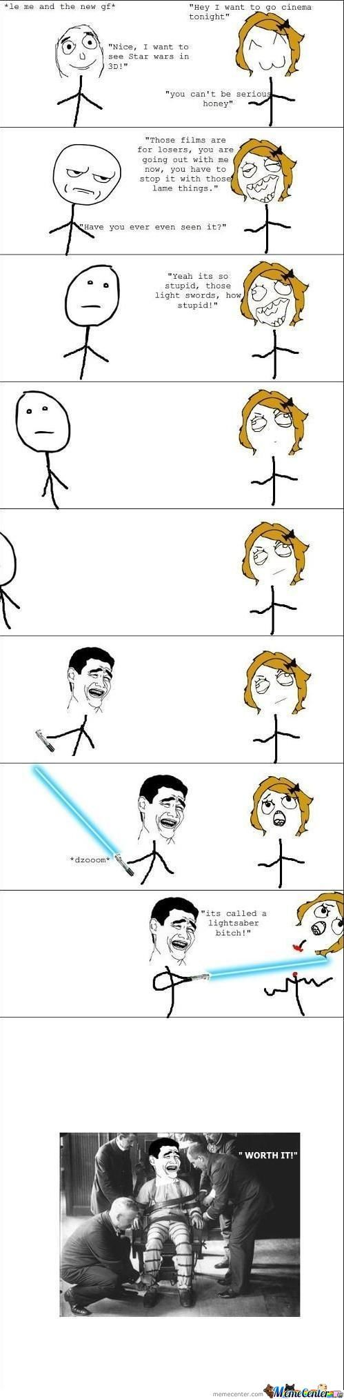 It's A Lightsaber!