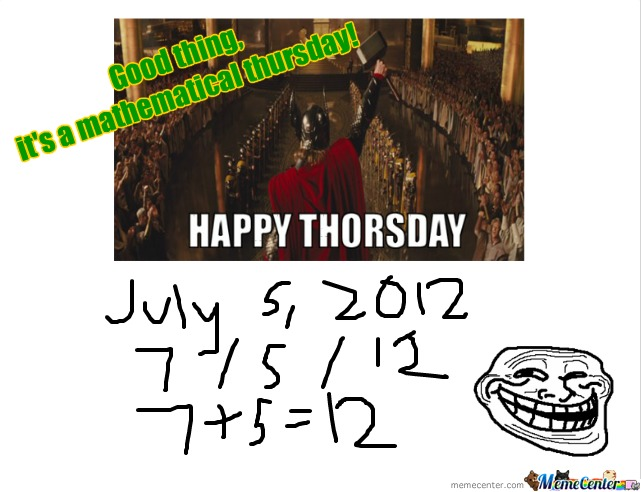 It's A Mathematical Thor's Day!