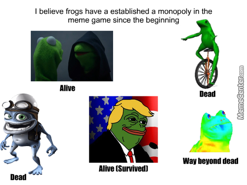 Its Always Been The Frogs...