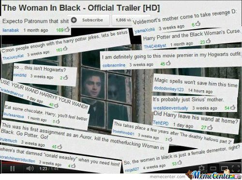 It's The Woman In Black Not Harry Potter.