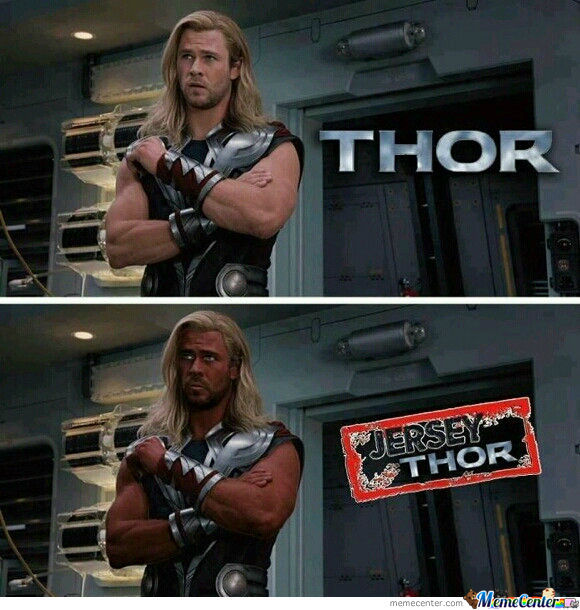 Jersey Thor By Shocked Meme Center