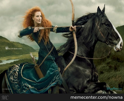 Jessica Chastain As Princess Merida