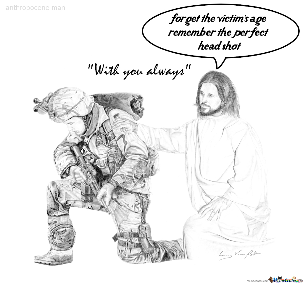 Jesus With Soldier