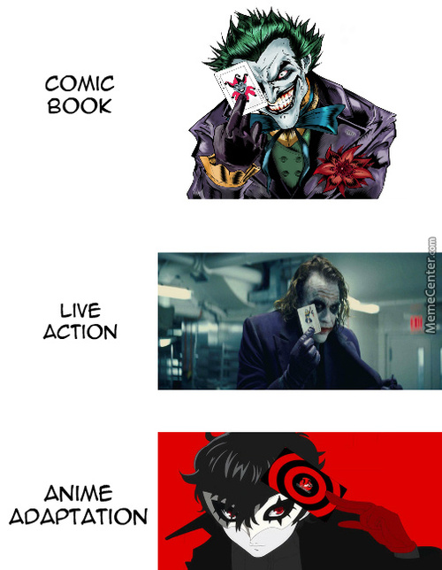 Joker's Many Forms.