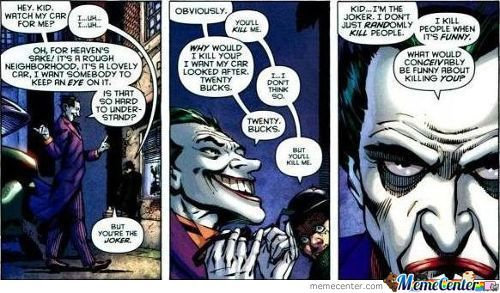 Joker Has Standards