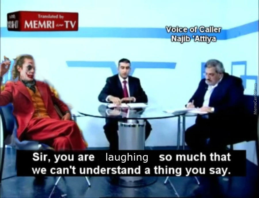 Joker On Memri Tv... What Will He Do?