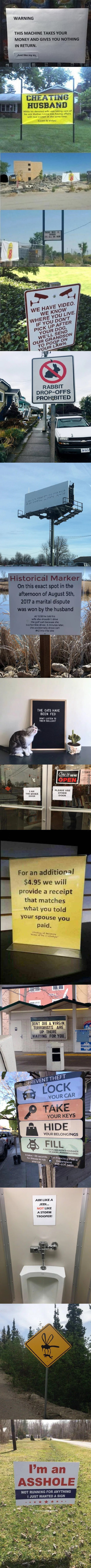 Just A Compilation Of Signs #5