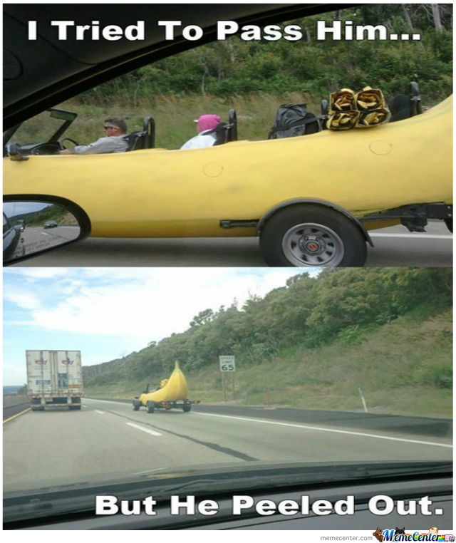 Just Another Banana Car On The Road